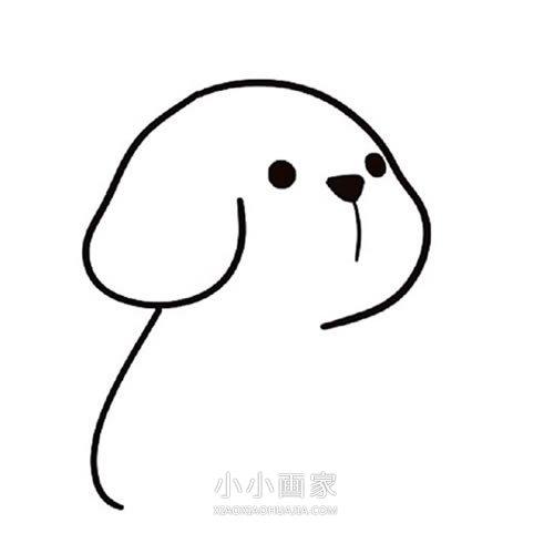 卡通小黄狗简笔画画法图片步骤