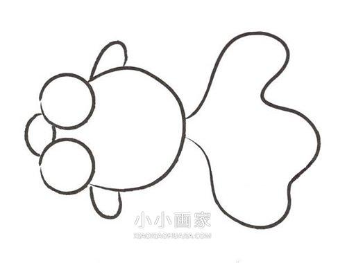 可爱小金鱼简笔画画法图片步骤