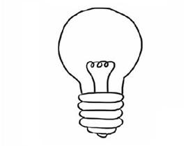 简单灯泡简笔画画法图片步骤
