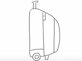简单行李箱简笔画画法图片步骤