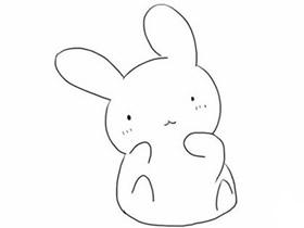 卖萌小兔子简笔画画法图片步骤