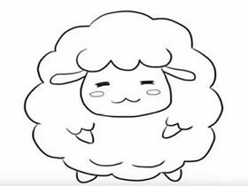 卡通小绵羊简笔画画法图片步骤
