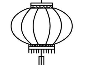 简单元宵节灯笼简笔画画法图片步骤