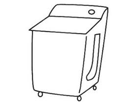 简单洗衣机简笔画画法图片步骤