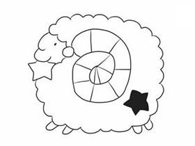 好玩的绵羊简笔画画法图片步骤