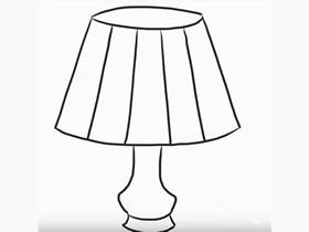 简单台灯简笔画画法图片步骤