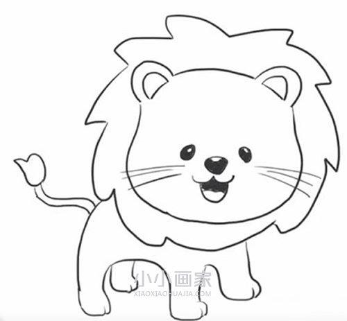 简单卡通小狮子简笔画画法图片步骤 小小画家