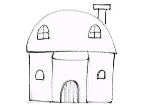 带烟囱小房子简笔画画法图片步骤