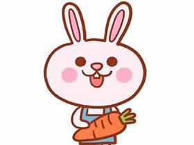 吃胡萝卜的卡通小兔简笔画画法图片步骤