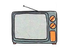 老旧电视机简笔画画法图片步骤