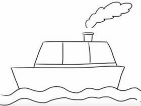 轮船简笔画图片大全 小小画家