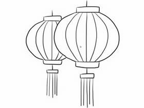 春节新年灯笼简笔画画法图片步骤
