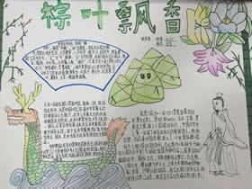 小学六年级优秀端午节手抄报图片