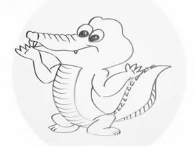 可爱卡通鳄鱼简笔画画法图片步骤