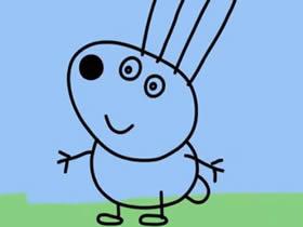 小兔瑞贝卡简笔画画法图片步骤