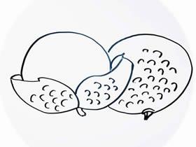 简单荔枝简笔画画法图片步骤