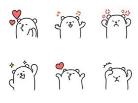 卡通小熊表情简笔画画法图片步骤