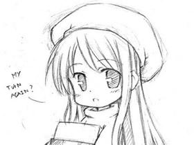 可爱卡通女生铅笔画作品图片