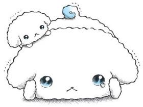 害怕哭泣的可爱小狗彩铅画作品图片