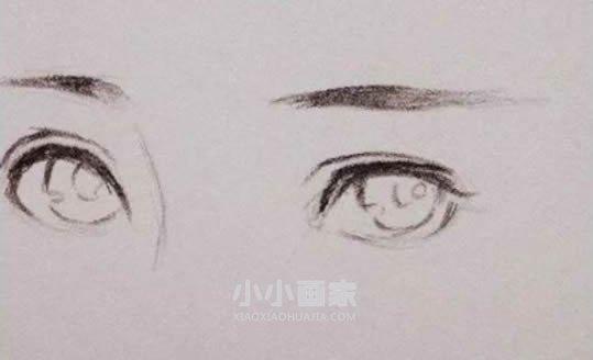 漂亮女生眼睛铅笔画画法教程- www.xiaoxiaohuajia.com