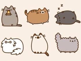 可爱卡通猫咪手账简笔画素材