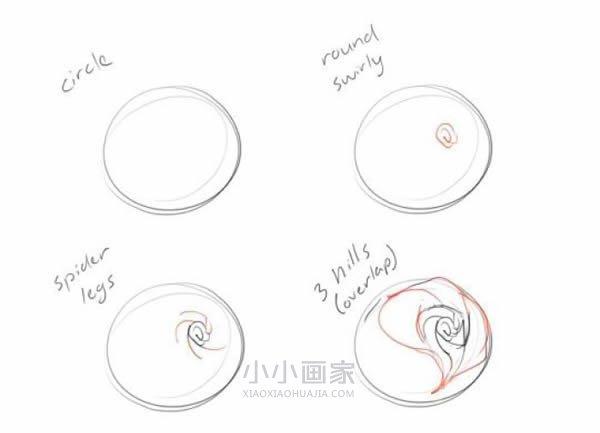 美丽玫瑰花铅笔画画法教程- www.xiaoxiaohuajia.com