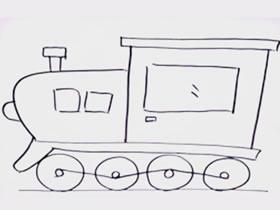 简单火车头简笔画画法图片步骤