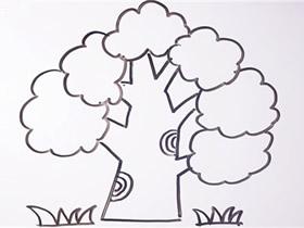 植树节大树简笔画画法图片步骤