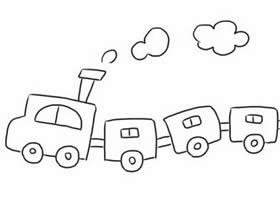 跑动火车简笔画画法图片步骤