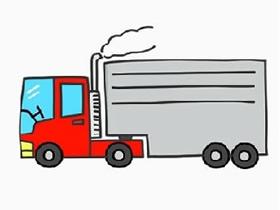 彩色大卡车简笔画画法图片步骤