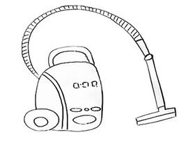 简单吸尘器简笔画画法图片步骤