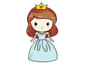 美丽卡通公主简笔画画法图片步骤