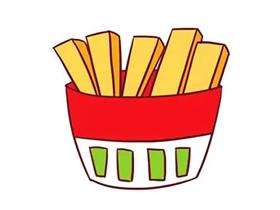 彩色薯条简笔画画法图片步骤