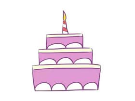 三层结婚蛋糕简笔画画法图片步骤