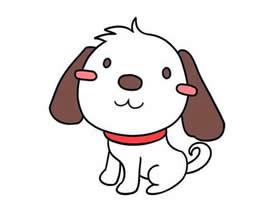 漂亮小狗狗简笔画画法图片步骤