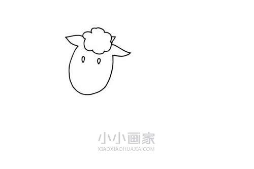 奔跑的小羊简笔画画法图片步骤