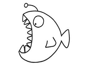 简单灯笼鱼简笔画画法图片步骤