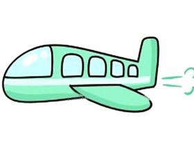飞行的飞机简笔画画法图片步骤