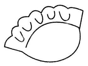 简单饺子简笔画画法图片步骤