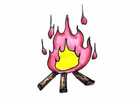篝火简笔画画法图片步骤
