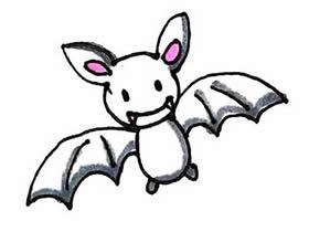万圣节小蝙蝠简笔画画法图片步骤