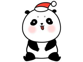 过圣诞的小熊猫简笔画画法图片步骤
