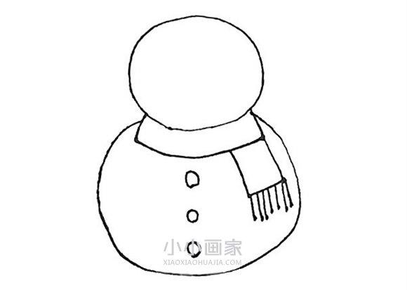 冬天卡通帽子简笔画_冬天雪人简笔画画法图片步骤_小小画家