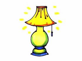 发光台灯简笔画画法图片步骤