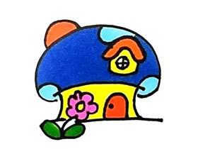 蘑菇房简笔画画法图片步骤