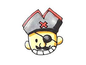 独眼海盗简笔画画法图片步骤