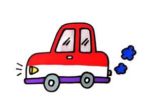 行驶小汽车简笔画画法图片步骤