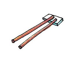 一双筷子简笔画画法图片步骤