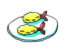 彩色炸虾简笔画画法图片步骤
