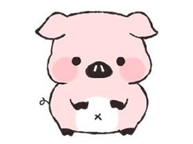 粉色小猪简笔画画法图片步骤